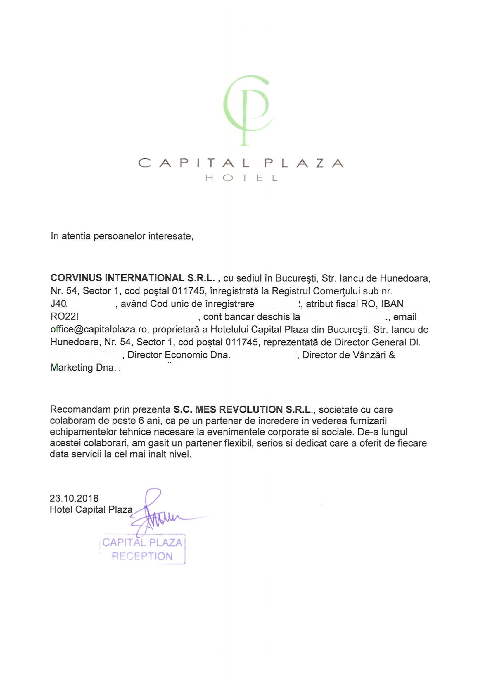 2. Hotel Capital Plaza Bucuresti